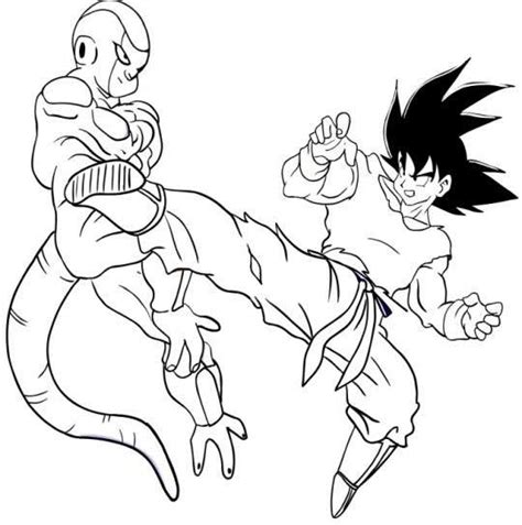 imagenes de goku vs naruto para colorear dibujos de dragon ball fotos ideas para colorear 38 40