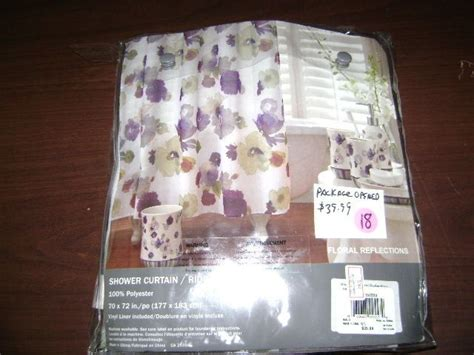 reflections floral fabric shower curtain wamsutta shower curtain polyester fabric floral