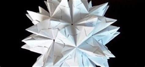 how to origami a spiked truncated icosahedron 171 origami