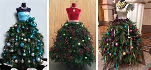 Off on how to design a spectacular christmas tree dress form at home