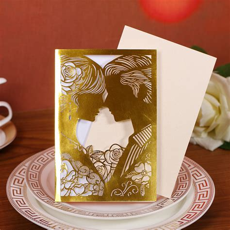 printable wedding invitation card sle aliexpress com buy 60set 23color romantic laser cut