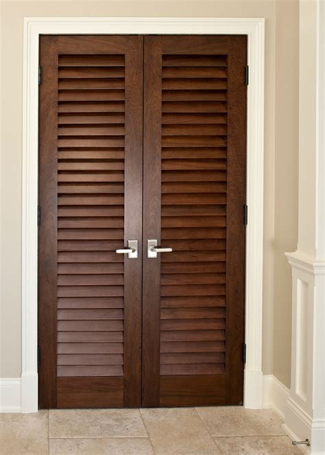 interior door custom solid wood with walnut