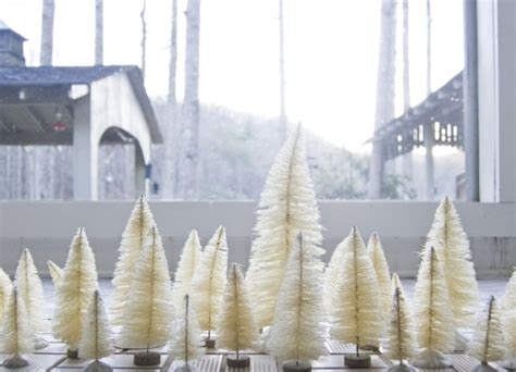 diy white tree diy bottle brush trees going home to roost