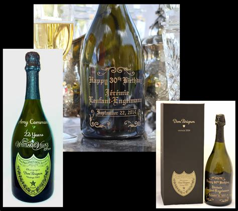 custom engraved dom perignon chagne hollywood los
