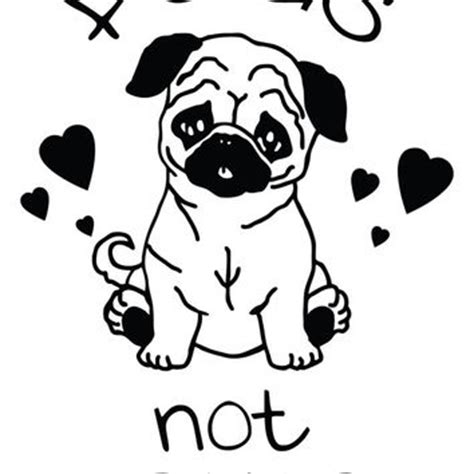 what does the pug say stickedecals on etsy on wanelo