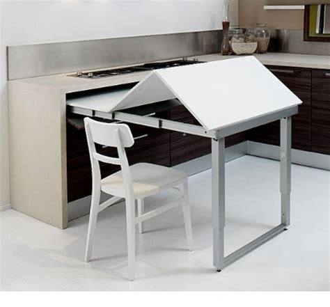 space saving kitchen island with pull out table homesfeed