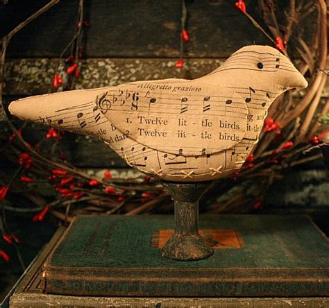 oh christmas string folk art rock river stitches prim folk sheet bird make do