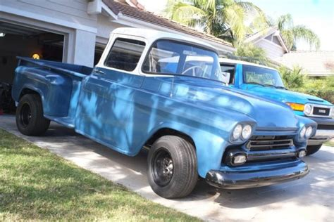 1958 chevy apache stepside truck big window new paint resto mod v8 for sale in san