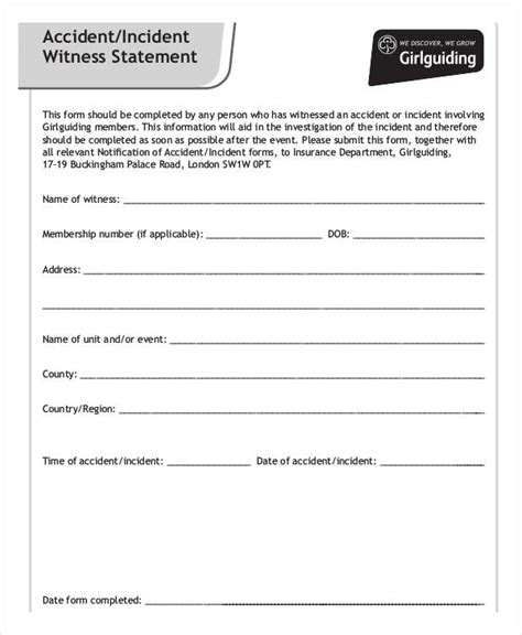 witness statement form template images download cv witness statement form template image collections