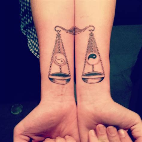 libra sign tattoo tons of libra tattoos the scales of justice zodiac