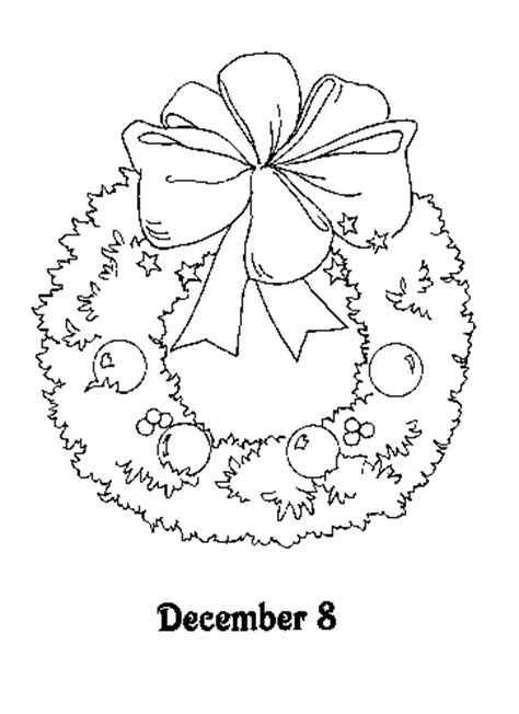 free an advent wreath coloring pages