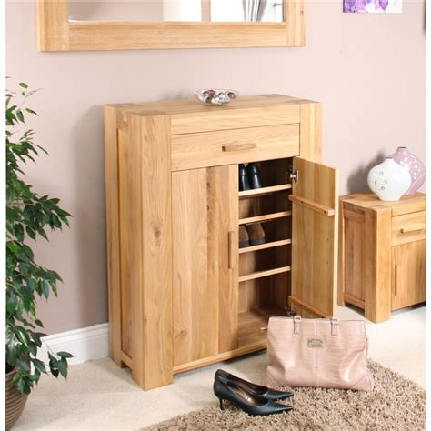 Hallway Shoe Storage Cabinet Palma Solid Chunky Oak Hallway Furniture Shoe Storage Cabinet Cupboard Rack Ebay