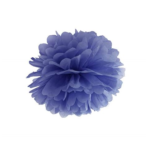 Pom Pom Kertas Uk 25cm paper pom pom 25cm navy blue wedding and store