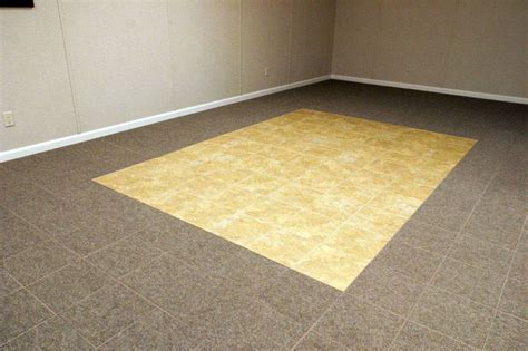 ThermalDry Carpeted Basement Floor Tiles