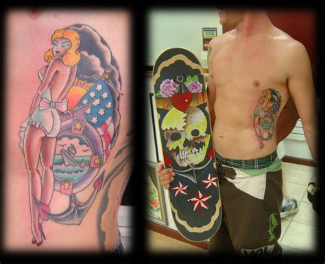 pinup tattoo looking for unique skull tattoos tattoos mikes new pinup