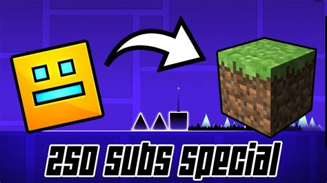 how to install geometry dash full version for free ios geometry dash in minecraft 250 subs special youtube