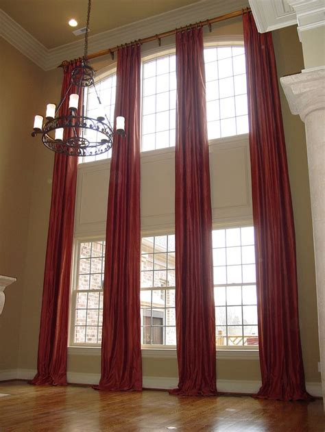 Two Story Curtains Two Story Curtains On A Rod Now To Find The House For Them Haha Room Decorations