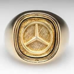 Mercedes Gold Ring Mens Mercedes Ring W Lapis Lazuli Flip 18k Gold