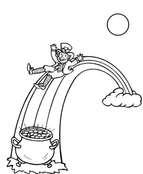 pot of gold coloring page free printable st s day coloring pages