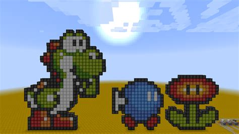 pixel character 6 yoshi by meowmixkitty on deviantart minecraft pixelart bob omb yoshi and fire flow by