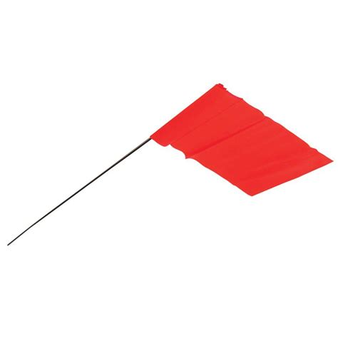 orange boat flag empire 3 5 in x 2 5 in glo orange flag stakes 100 pack
