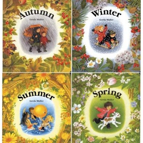 living the seasons of fall and winter books four seasons gerda muller board books summer