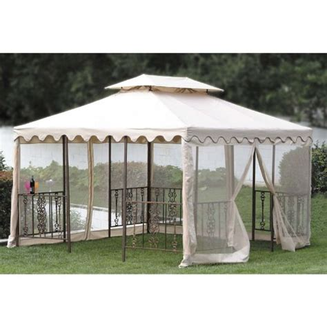 Gazebo Replacement 12ft Scalloped Edge Gazebo Replacement Canopy And Netting