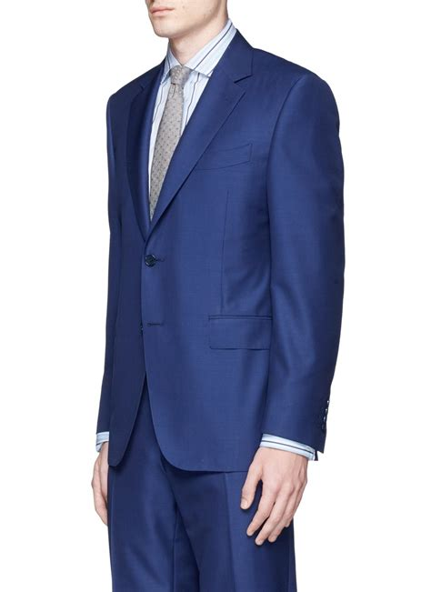 contemporary suits lyst canali contemporary wool and mohair blend travel