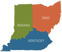 map of ohio ky indiana map of ohio kentucky and indiana indiana map