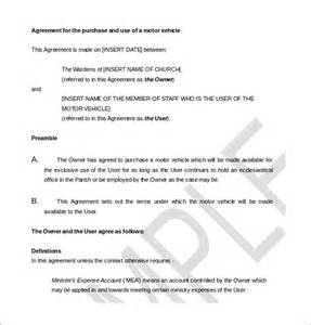 Template For Purchase Agreement by 11 Purchase Agreement Templates Free Sle Exle