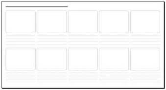 10 frame storyboard 30 x 16 in storyboard template pdf