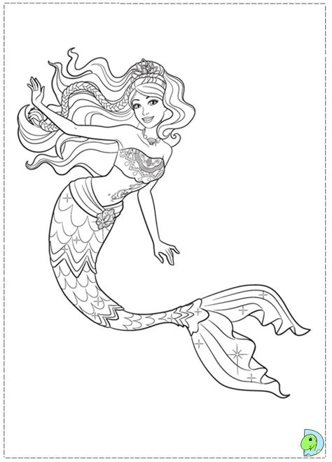 Detailed Mermaid Coloring Pages   GetColoringPages.com