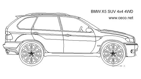how to draw a boat on autocad autocad drawing bmw x5 suv 4x4 4wd side dwg