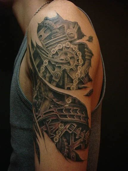 top 10 mechanical gear tattoos