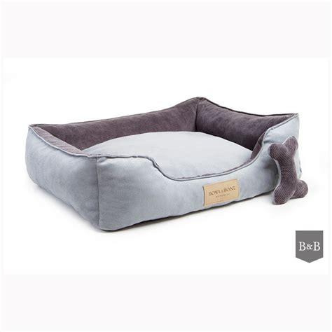 gray dog bed bowl and bone luxury dog beds