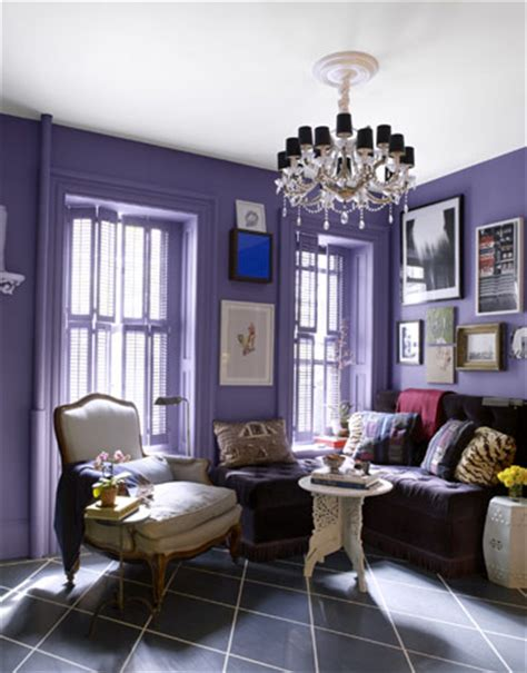 Purple Walls Living Room by Purple Archives Panda S House