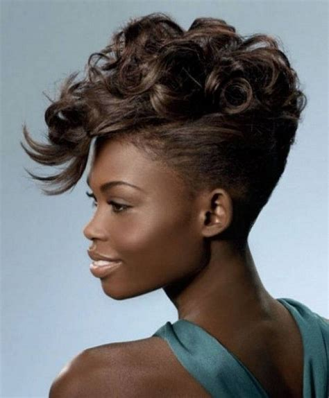 new age mohawk hairstyle superlative african american women hairstyles with color