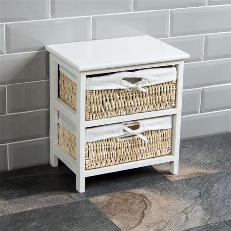 2 Drawer Basket Storage by Maize Baskets Unit White 2 Drawer Storage Cabinet