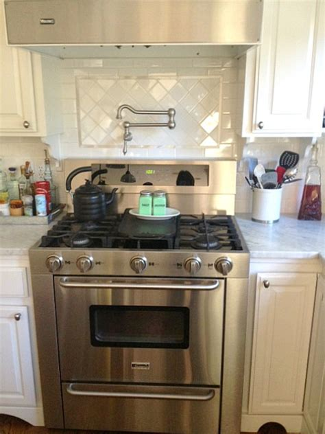 Backsplash For Yellow Kitchen Martha S Renovated Kitchen In California Hooked On Houses