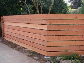 Diy Home Design Ideas Landscape Backyard Horizontal Redwood Fence 1 Modern Exterior Los