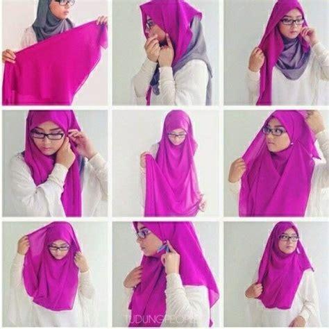 tutorial hijab bawal beautiful chest covering square hijab tutorial my sweet