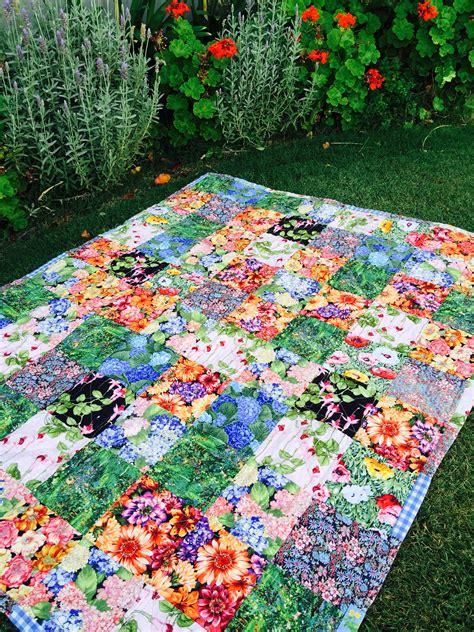 Patio Quilt Pattern Free Susie S Garden Quilt Free Pattern Susies Scraps