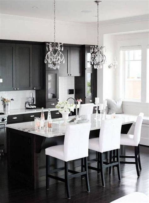 white and black kitchen cabinets black and white kitchen ideas