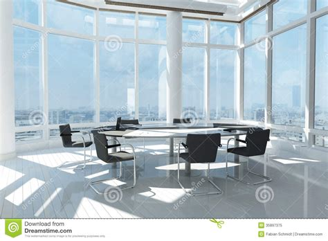 Office With Window Modern Office With Many Windows Royalty Free Stock Photo
