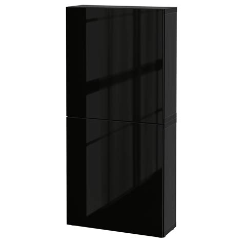 besta wall cabinet best 197 wall cabinet with 2 doors black brown selsviken high