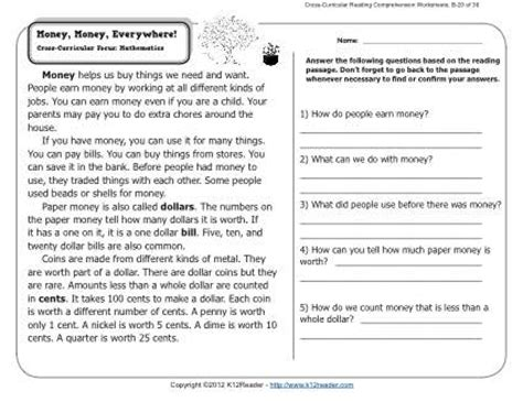 the best seat in second grade comprehension questions 12 best images of 6th grade reading comprehension
