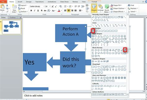 easiest way to make a flowchart best way to make a flow chart in powerpoint 2010