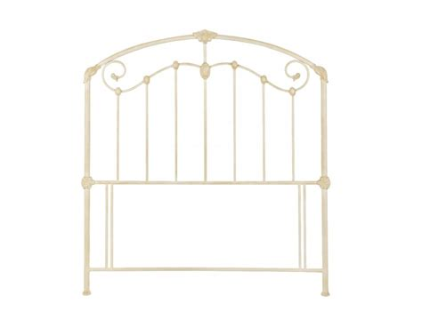 bentley headboards bentley designs lauren 4ft6 double ivory metal headboard