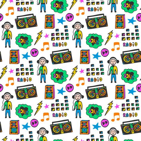 color pattern song colorful musical seamless pattern fun colors doodle