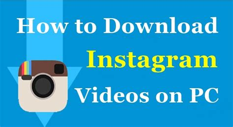 How to Download Instagram Videos onto your PC / Computer ...